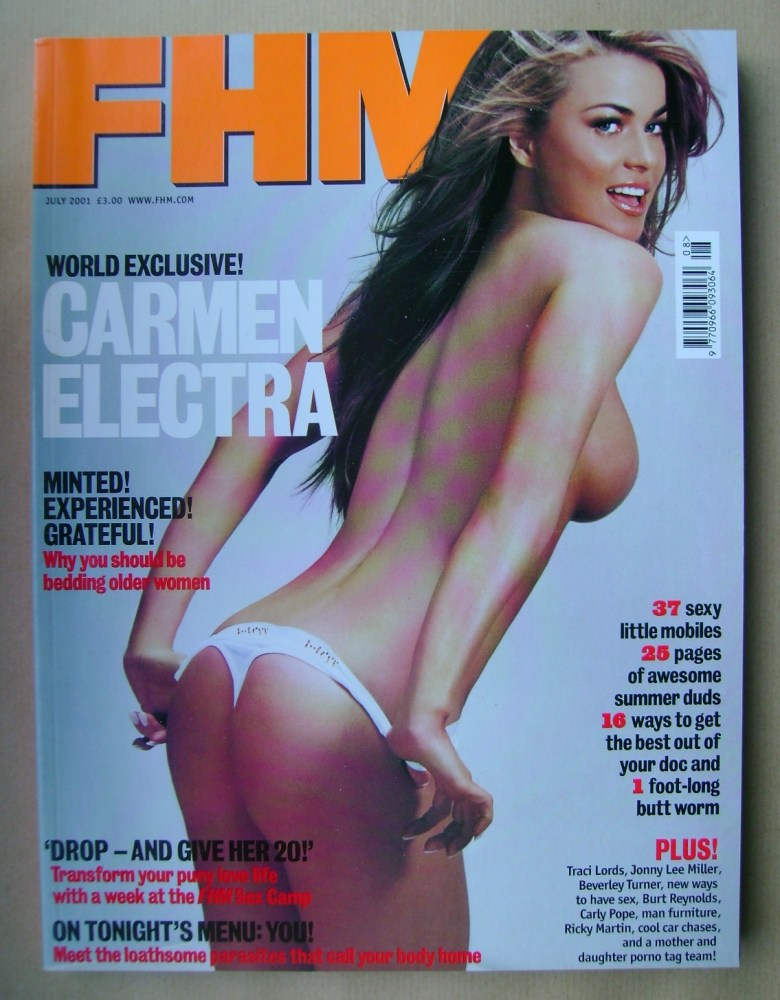 <!--2001-07-->FHM magazine - Carmen Electra cover (July 2001)