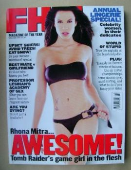 FHM magazine - Rhona Mitra cover (November 1997)
