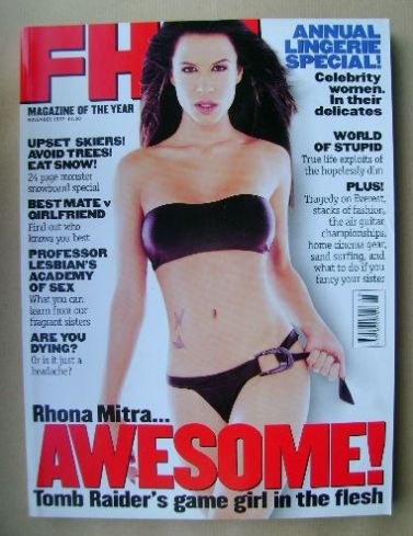 <!--1997-11-->FHM magazine - Rhona Mitra cover (November 1997)