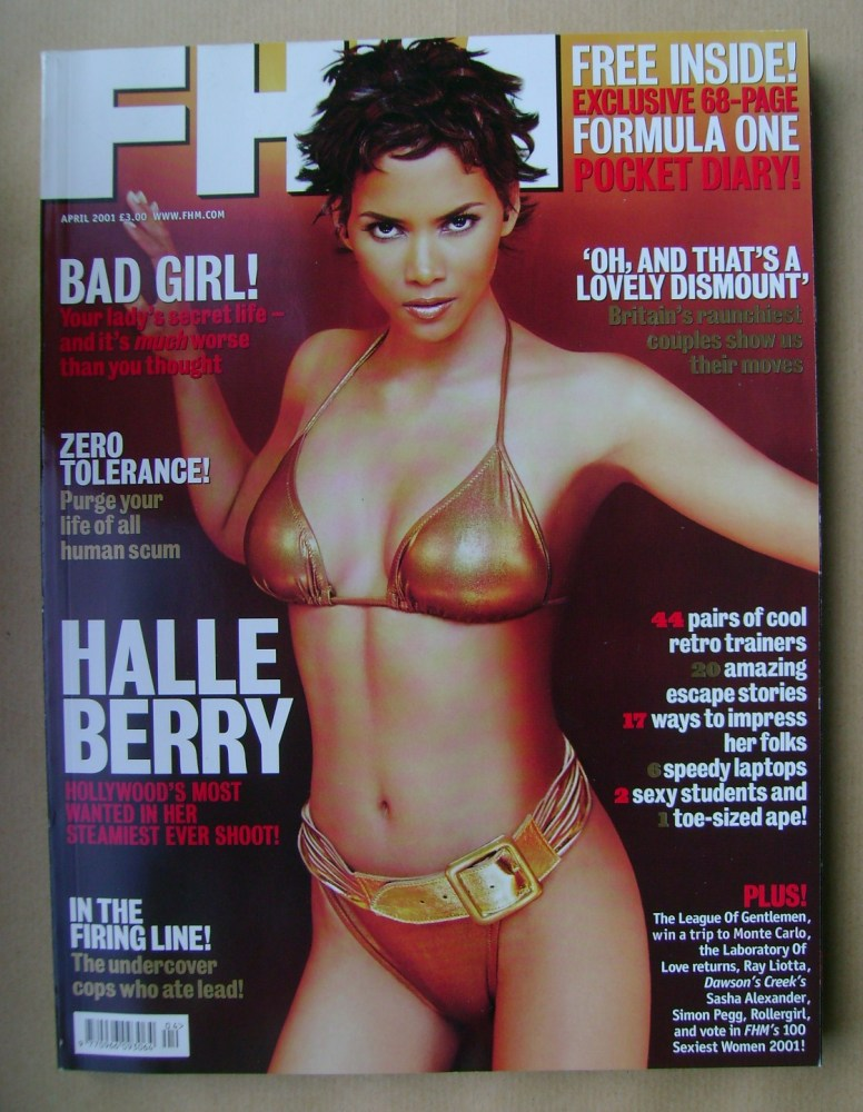 <!--2001-04-->FHM magazine - Halle Berry cover (April 2001)