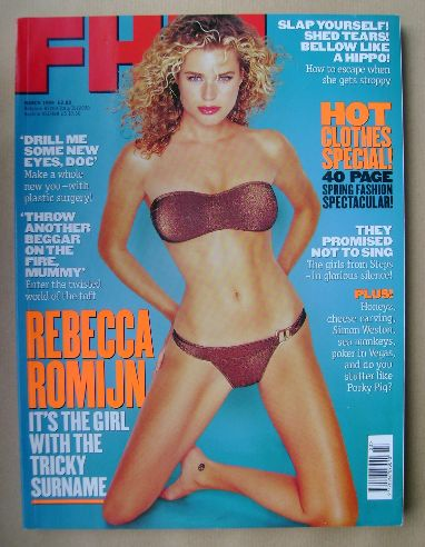 <!--1999-03-->FHM magazine - Rebecca Romijn cover (March 1999)