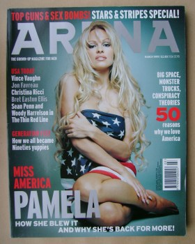 Arena magazine - March 1999 - Pamela Anderson cover