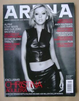 Arena magazine - January/February 2000 - Christina Aguilera cover