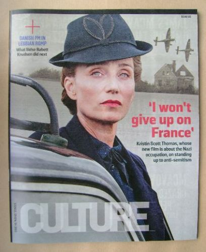 <!--2015-02-15-->Culture magazine - Kristin Scott Thomas cover (15 February