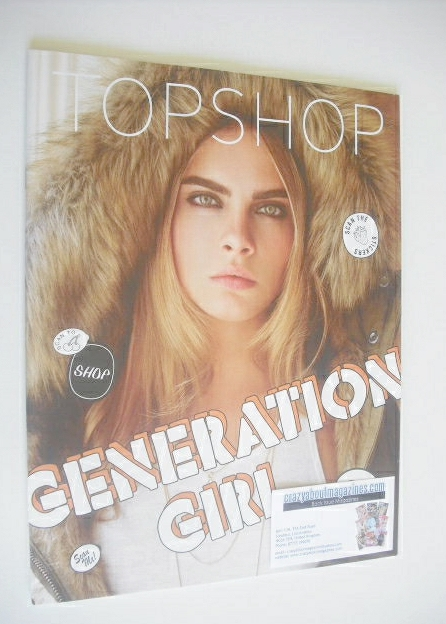 Topshop magazine - Cara Delevingne cover (Fall 2014)