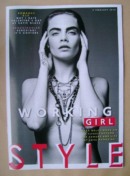 <!--2015-02-08-->Style magazine - Cara Delevingne cover (8 February 2015)