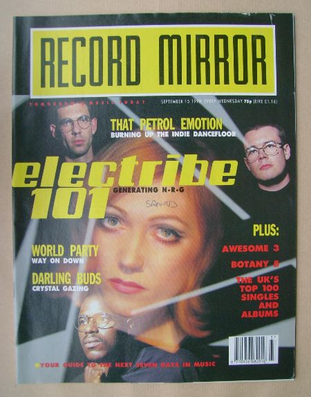 <!--1990-09-15-->Record Mirror magazine - Electribe 101 cover (15 September