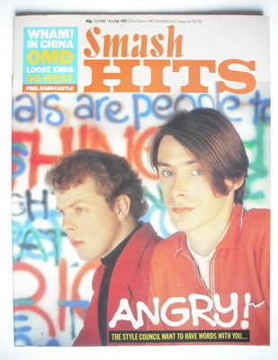 <!--1985-05-22-->Smash Hits magazine - The Style Council cover (22 May - 4