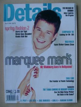 Details magazine - April 1996 - Mark Wahlberg cover