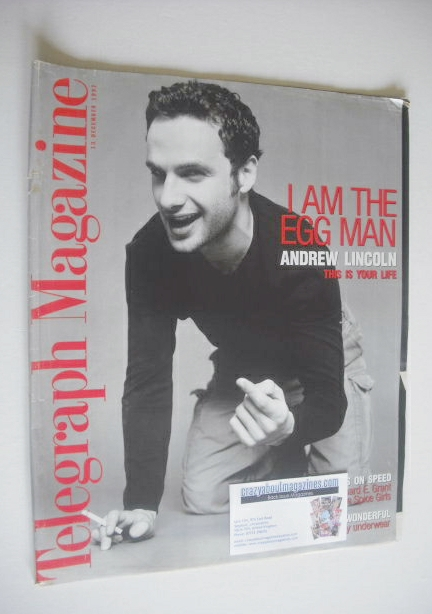 <!--1997-12-13-->Telegraph magazine - Andrew Lincoln cover (13 December 199
