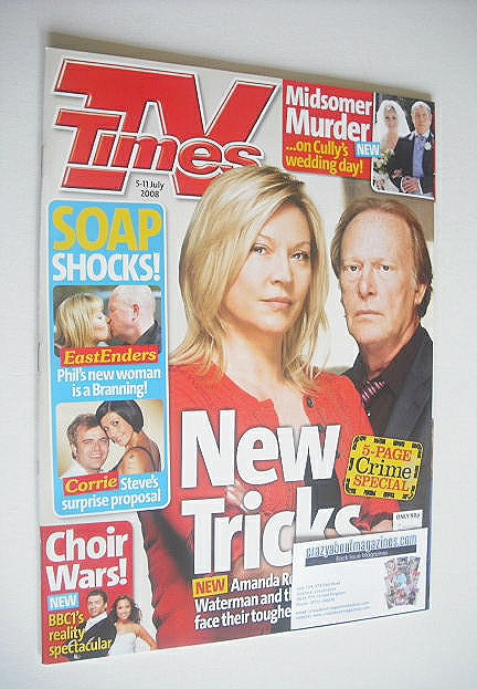 <!--2008-07-05-->TV Times magazine - Amanda Redman and Dennis Waterman cove