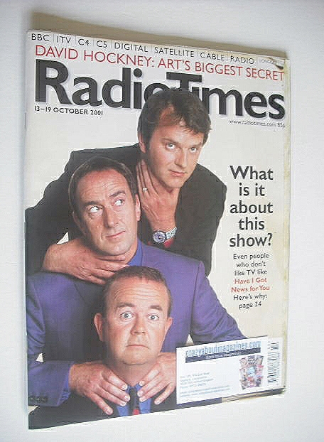 <!--2001-10-13-->Radio Times magazine - Have I Got News For You cover (13-1
