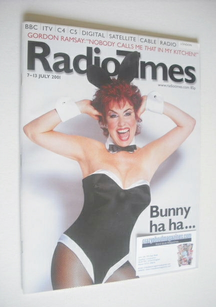 <!--2001-07-07-->Radio Times magazine - Ruby Wax cover (7-13 July 2001)