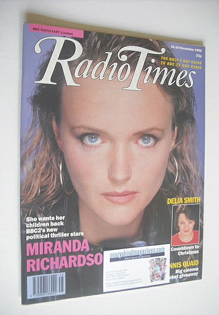<!--1990-11-10-->Radio Times magazine - Miranda Richardson cover (10-16 Nov