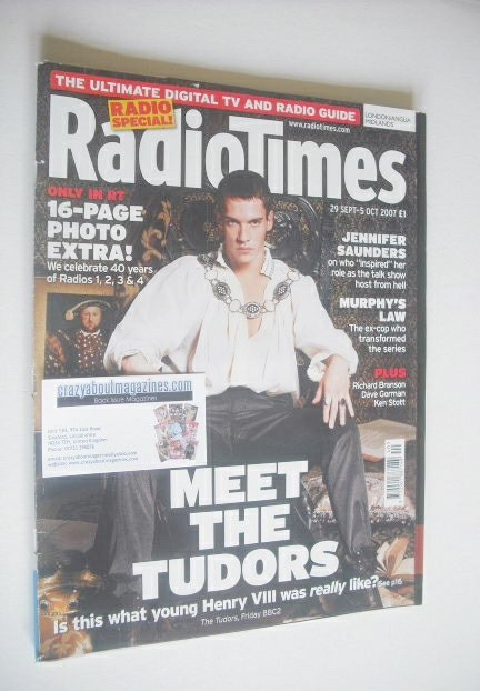 <!--2007-09-29-->Radio Times magazine - Jonathan Rhys Meyers cover (29 Sept