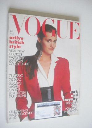 <!--1987-08-->British Vogue magazine - August 1987 - Yasmin Le Bon cover