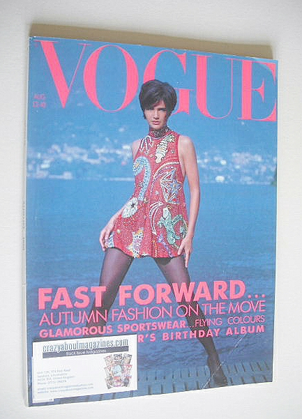 <!--1990-08-->British Vogue magazine - August 1990 - Helena Christensen cov