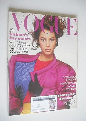 <!--1987-07-->British Vogue magazine - July 1987 - Christy Turlington cover
