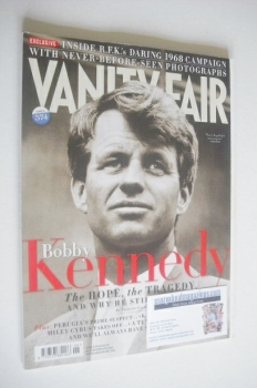 Vanity Fair magazine - Bobby Kennedy cover (June 2008)