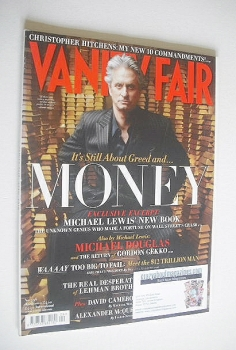 Vanity Fair magazine - Michael Douglas cover (April 2010)