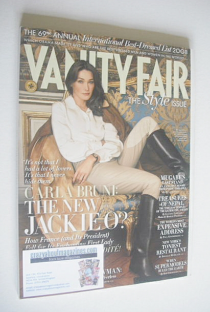 <!--2008-09-->Vanity Fair magazine - Carla Bruni cover (September 2008)