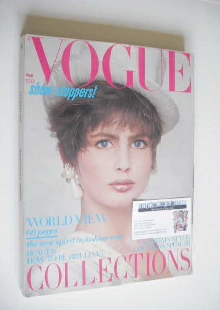 <!--1985-03-->British Vogue magazine - March 1985