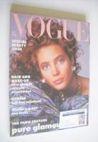 <!--1986-10-->British Vogue magazine - October 1986 - Christy Turlington cover