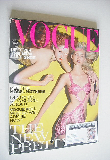 <!--2004-04-->British Vogue magazine - April 2004 - Lily Cole and Gemma War