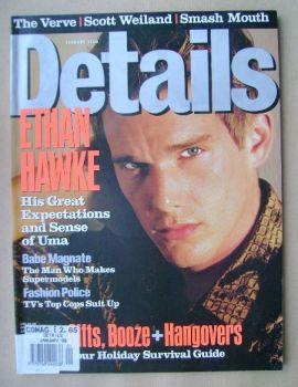 Details magazine - January 1998 - Ethan Hawke cover