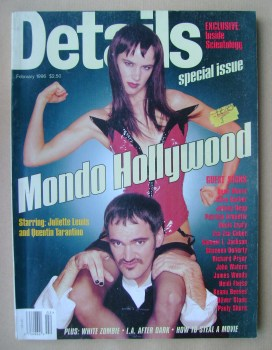 Details magazine - February 1996 - Juliette Lewis and Quentin Tarantino cover