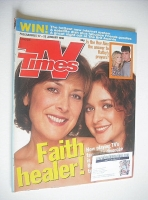 <!--1998-01-17-->TV Times magazine - Julia Sawalha and Lynda Bellingham cover (17-23 January 1998)