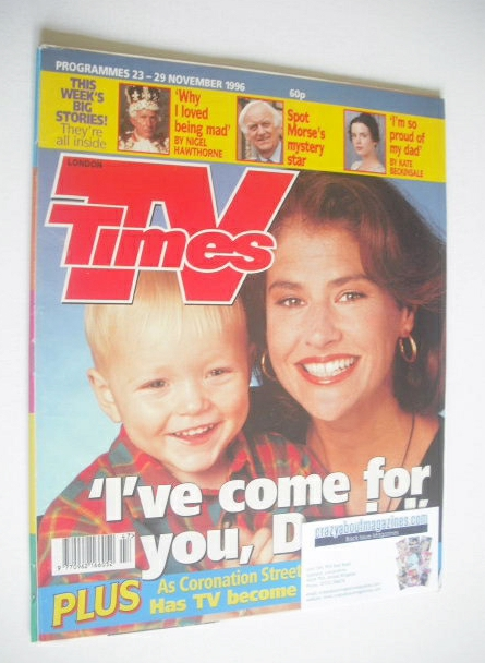<!--1996-11-23-->TV Times magazine - Denise Black cover (23-29 November 199