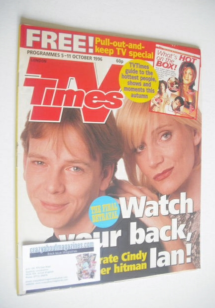 <!--1996-10-05-->TV Times magazine - Michelle Collins and Adam Woodyatt cov