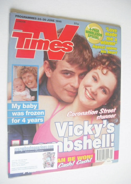 <!--1995-06-24-->TV Times magazine - Simon Gregson and Chloe Newsome cover