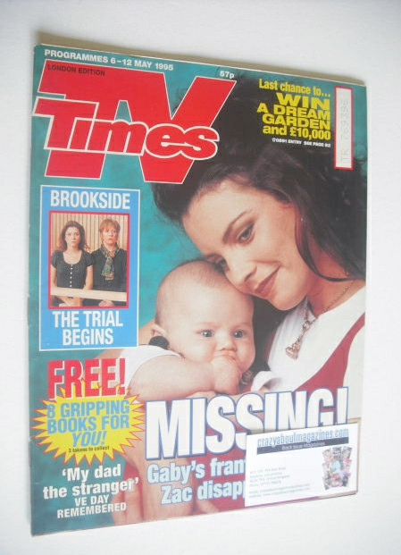 <!--1995-05-06-->TV Times magazine - Rachel Blakely cover (6-12 May 1995)