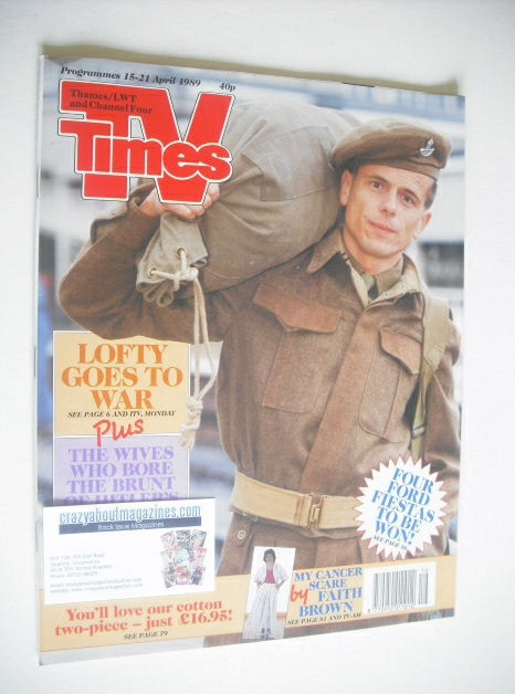 <!--1989-04-15-->TV Times magazine - Tom Watt cover (15-21 April 1989)
