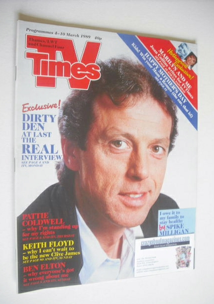 <!--1989-03-04-->TV Times magazine - Leslie Grantham cover (4-10 March 1989