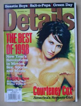 Details magazine - December 1997 - Courteney Cox cover