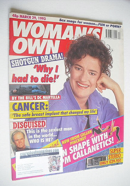 <!--1993-03-29-->Woman's Own magazine - 29 March 1993 - Nula Conwell cover