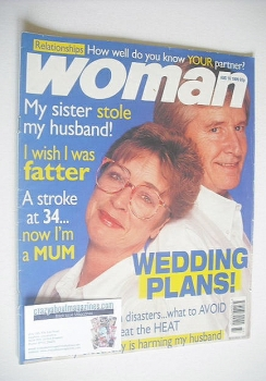 Woman magazine - William Roache and Anne Kirkbride cover (16 August 1999)