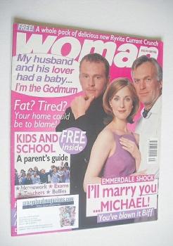 Woman magazine - Malcolm Stoddard, Stuart Wade and Anna Brecon cover (24 August 1998)