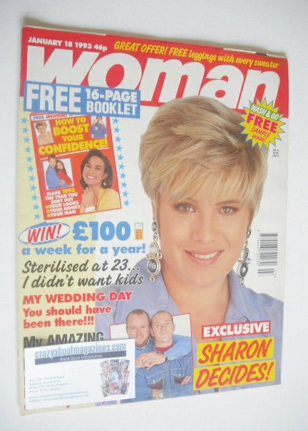 <!--1993-01-18-->Woman magazine - Letitia Dean cover (18 January 1993)