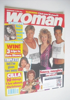 Woman magazine - Lizzie Webb and The Chippendales cover (9 December 1991)