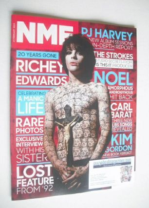 <!--2015-02-14-->NME magazine - Richey Edwards cover (14 February 2015)