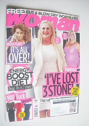 <!--2015-02-09-->Woman magazine - Vanessa Feltz cover (9 February 2015)