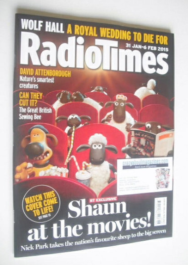 <!--2015-01-31-->Radio Times magazine - Shaun The Sheep cover (31 January -