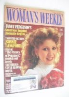 <!--1983-01-29-->Woman's Weekly magazine (29 January 1983 - Bonnie Langford cover)