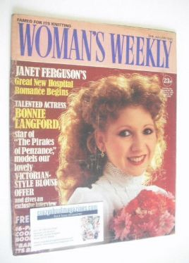 <!--1983-01-29-->Woman's Weekly magazine (29 January 1983 - Bonnie Langford