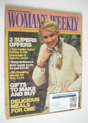<!--1982-11-06-->Woman's Weekly magazine (6 November 1982 - British Edition