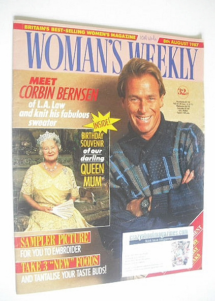 <!--1987-08-08-->Woman's Weekly magazine (8 August 1987 - Corbin Bernsen co